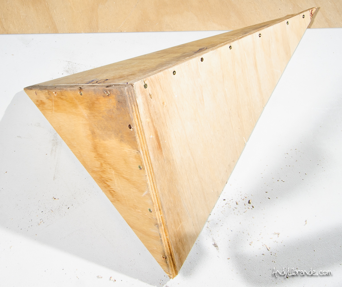 Build a Triangle Wood Volume for Your Climbing Wall » The Home ...