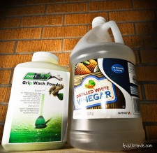 soill grip wash and vinegar