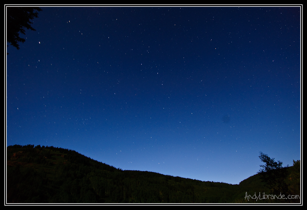 Night Sky over Cement Creek Crested Butte Colorado