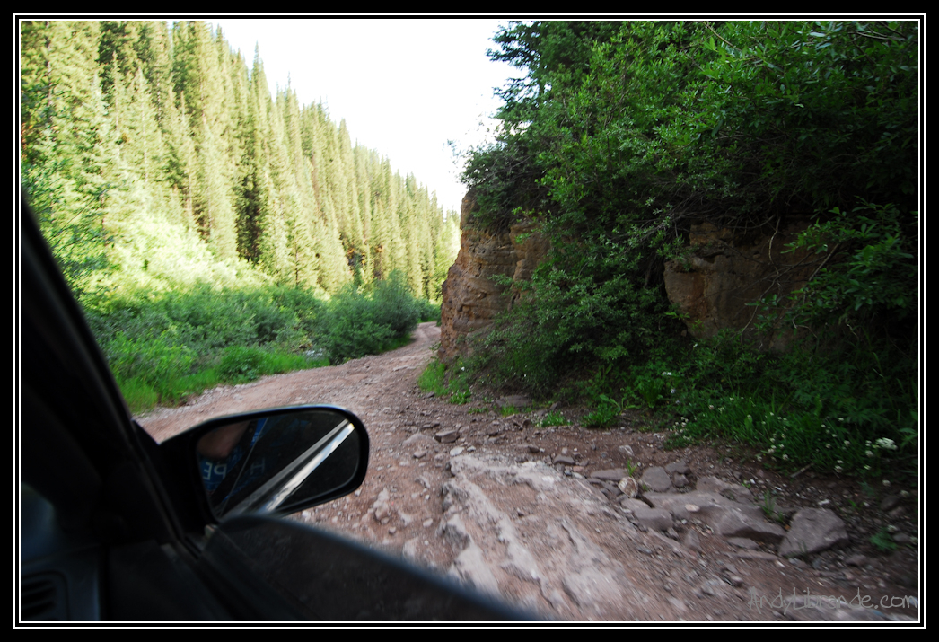 Honda Civic on Cement Creek Road Crested Butte Colorado