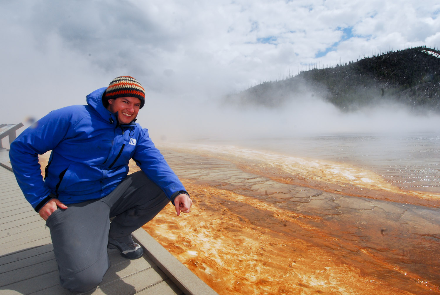 Andy Librande in Yellowstone National Park