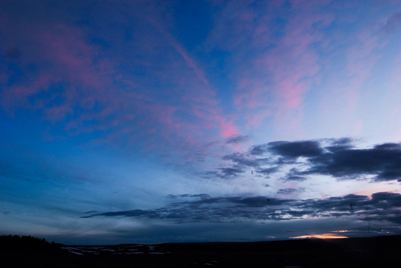 Spring Sunset over Hayden Valley Yellowstone