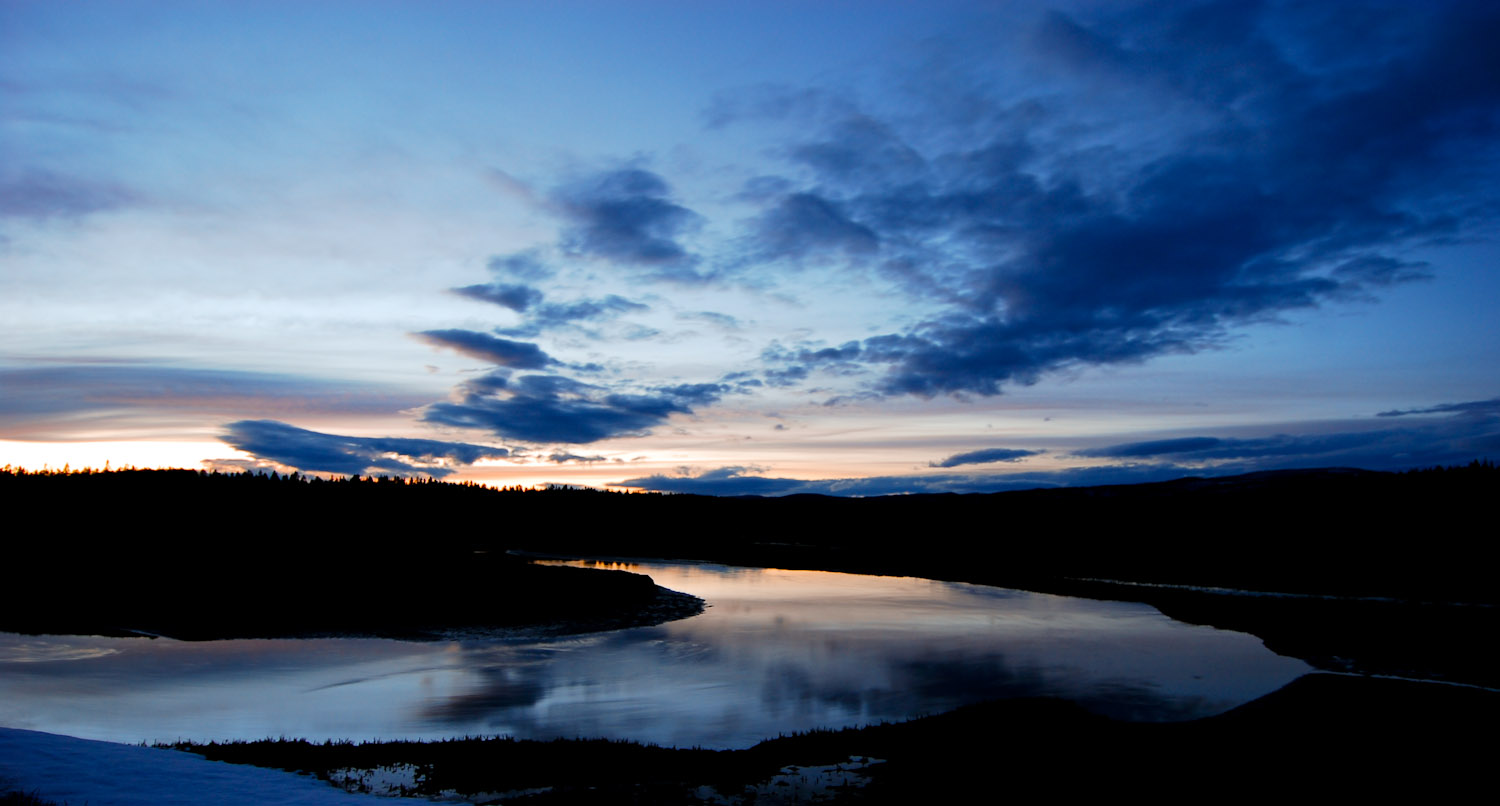 Spring Sunset over Pelican Creek Yellowstone