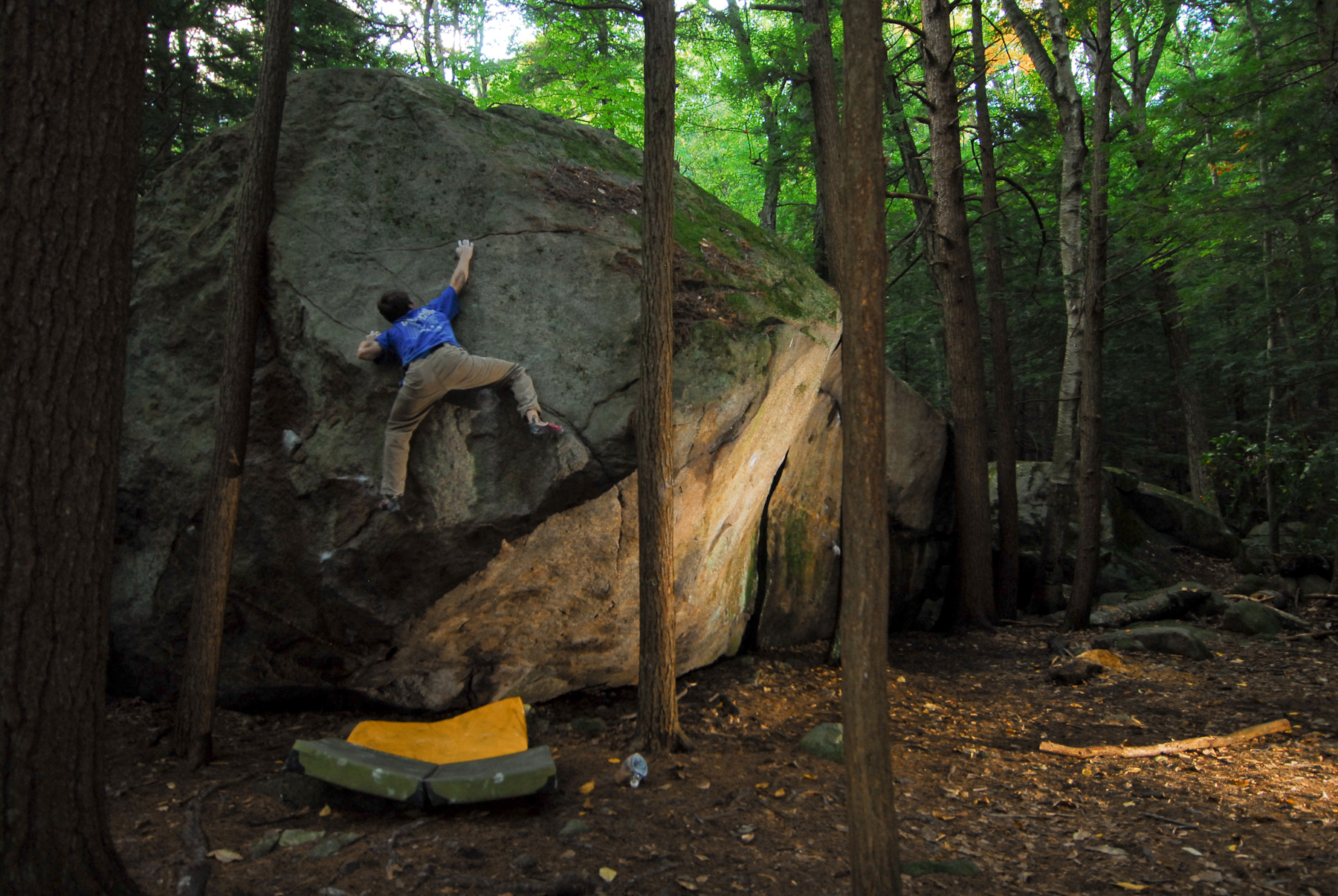 Terrorist Boulder Problem at Pawtuckaway