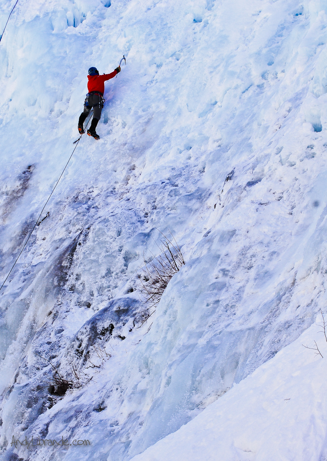 Ouray Colorado Ice Climb Lead in South Park