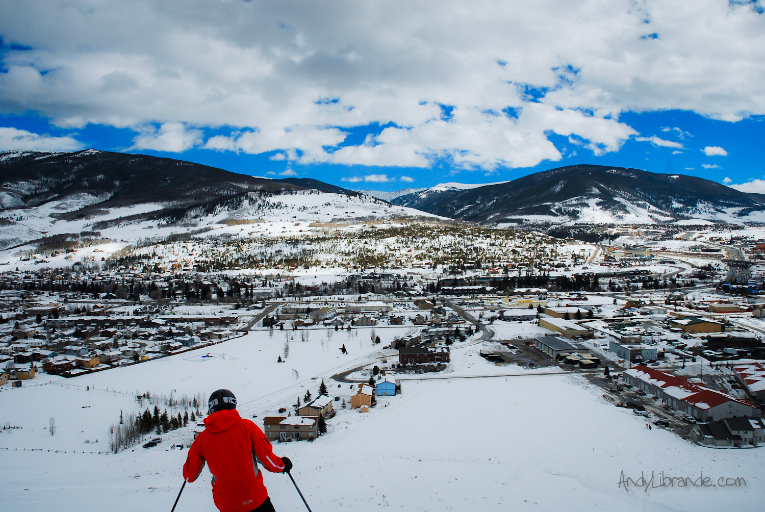 Overlooking Silverthorne Colorado in Winter
