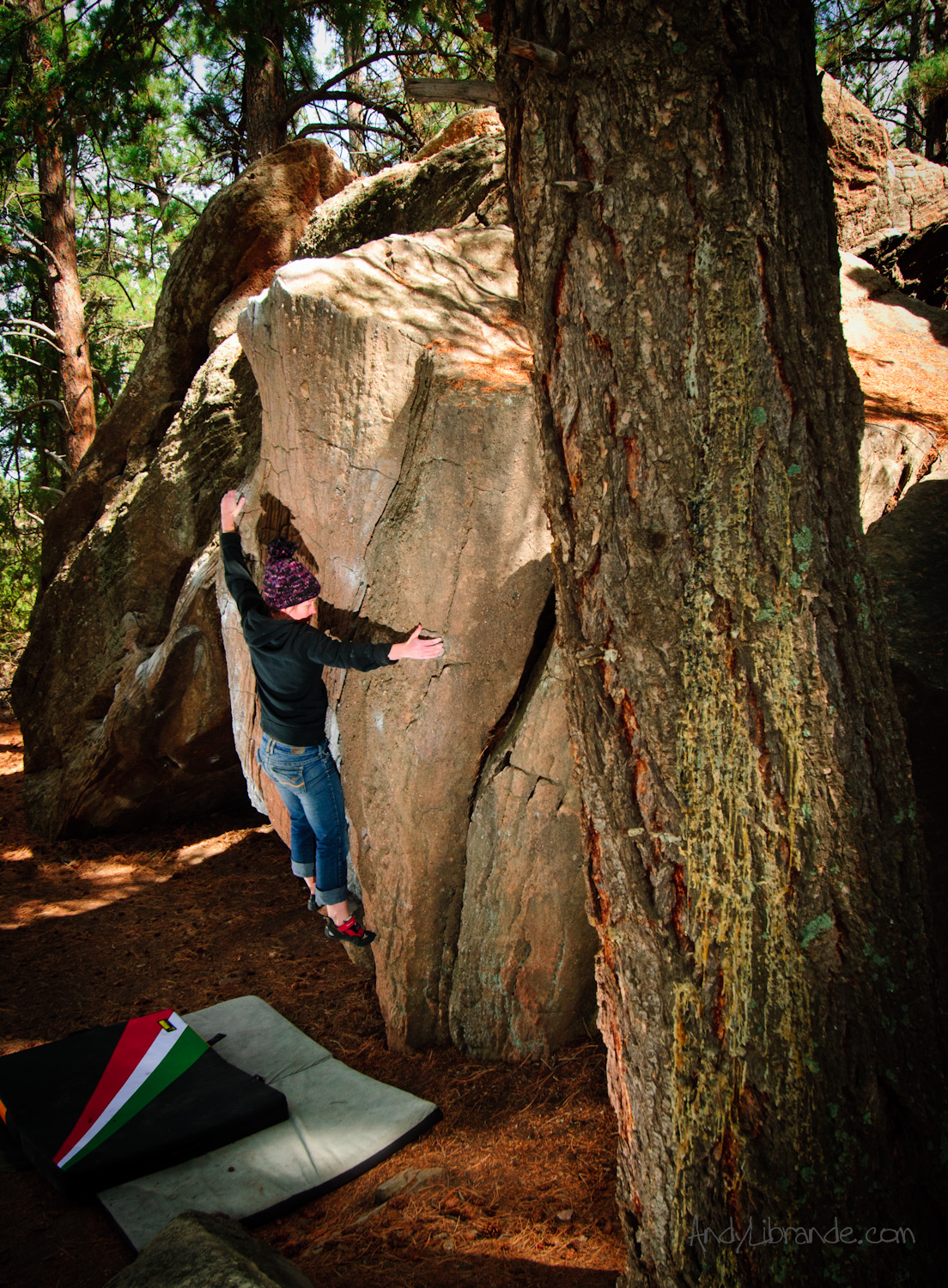 Castlewood Canyon Bouldering on Rocket Ship