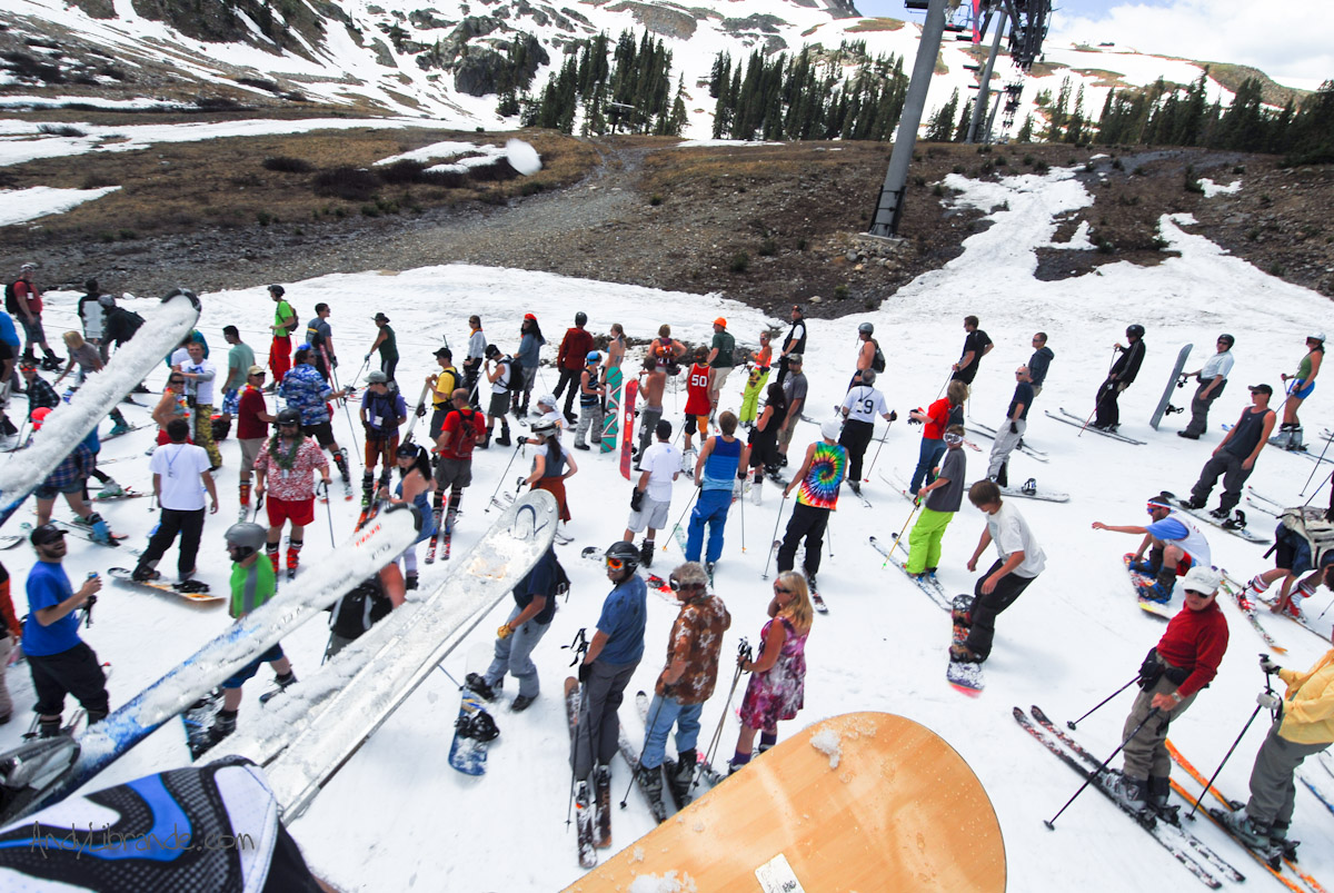 Lenawee lift at A-Basin on 4th of July