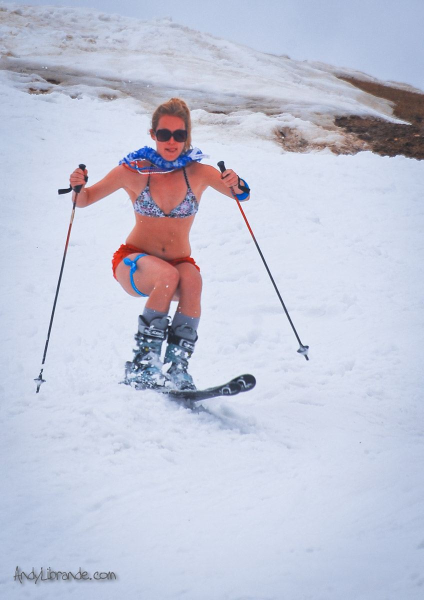 Bikini Skiing at A-basin