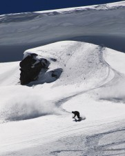 Duncan finding turns after the Cornice Huck