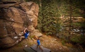 Elevenmile Canyon: Spray Boulder; Chris Storms