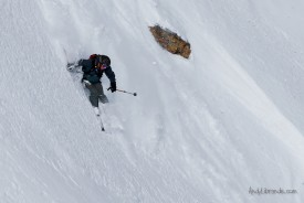 Scott Miller finding some steep snow