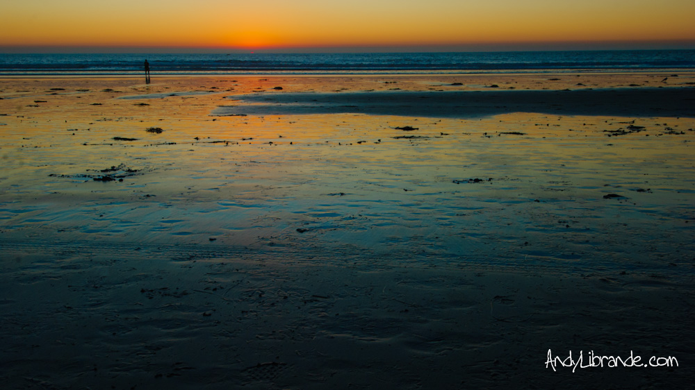 Mission Beach Reflections at Sunset