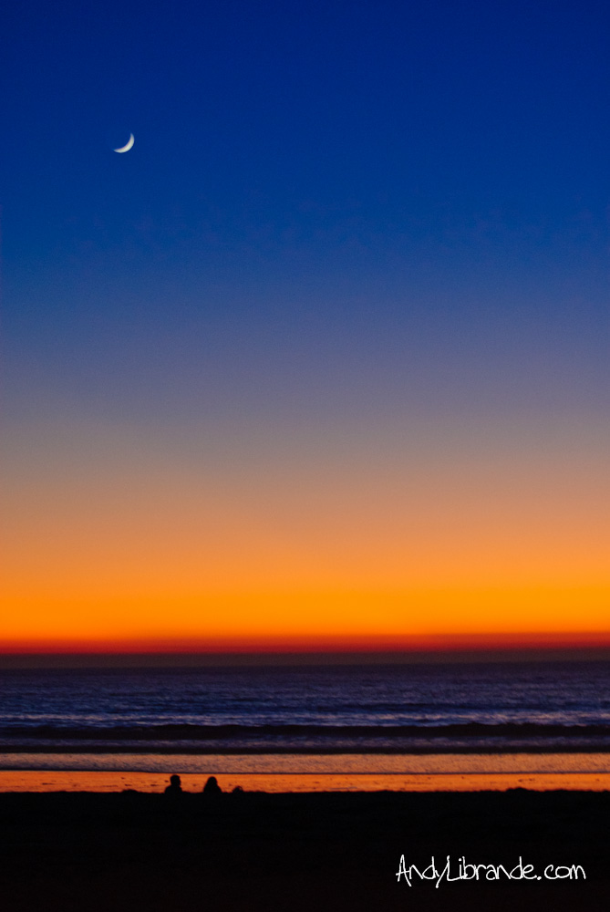 Mission Beach Sunset with Moon