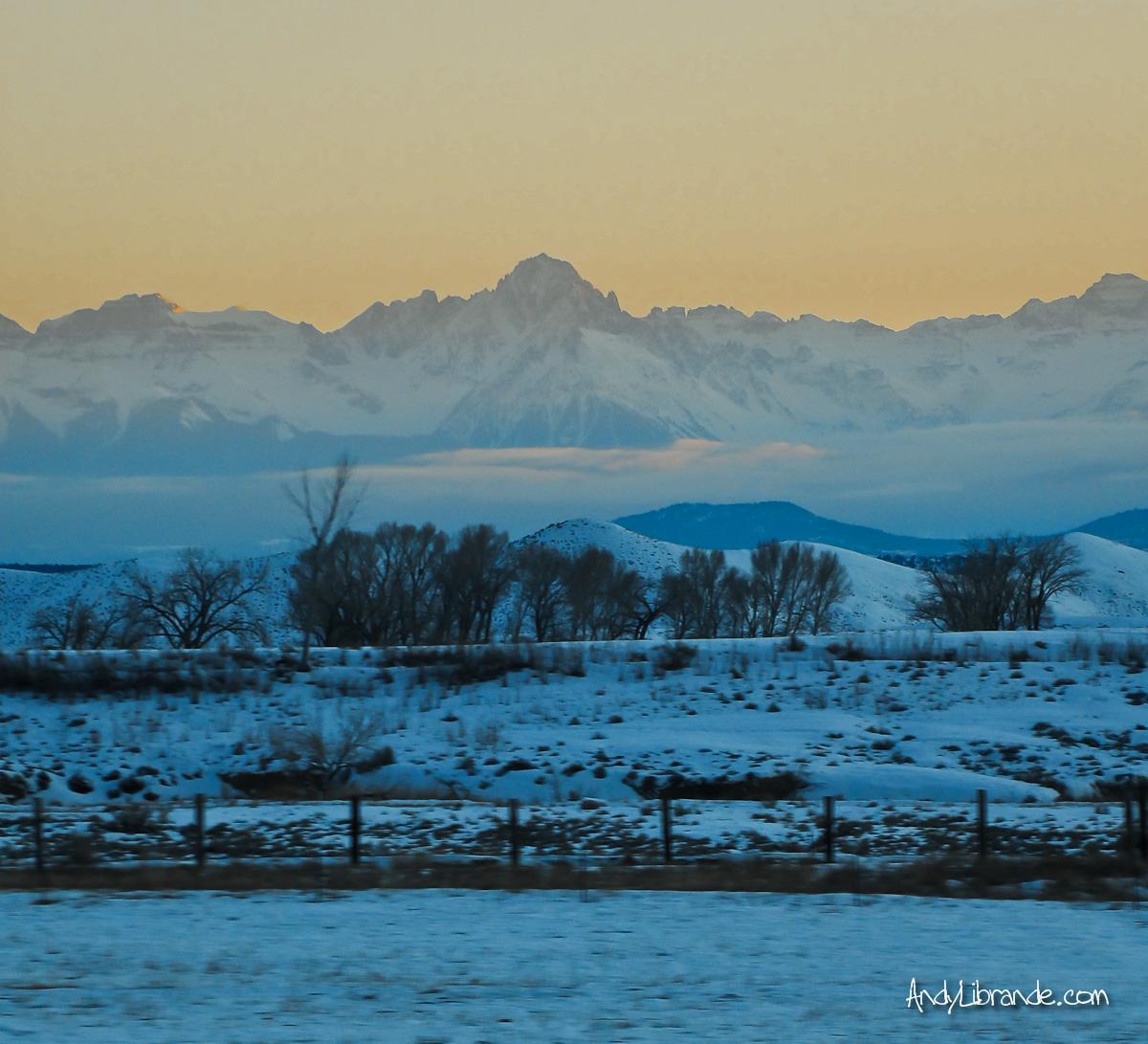 Mt Sherman Colorado at Sunset