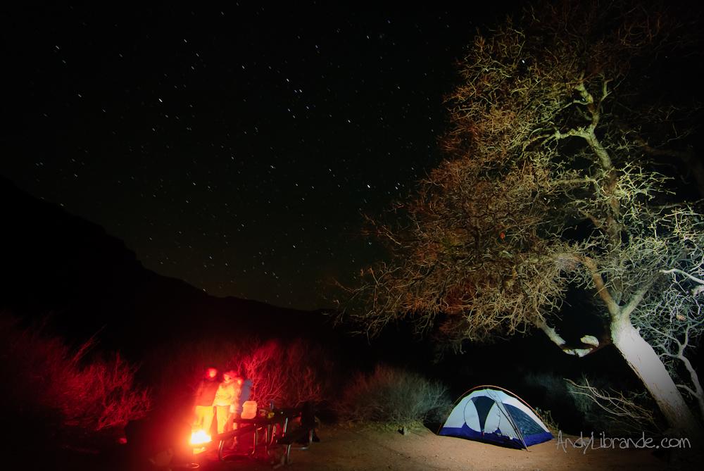 Winter Camping in Moab Utah