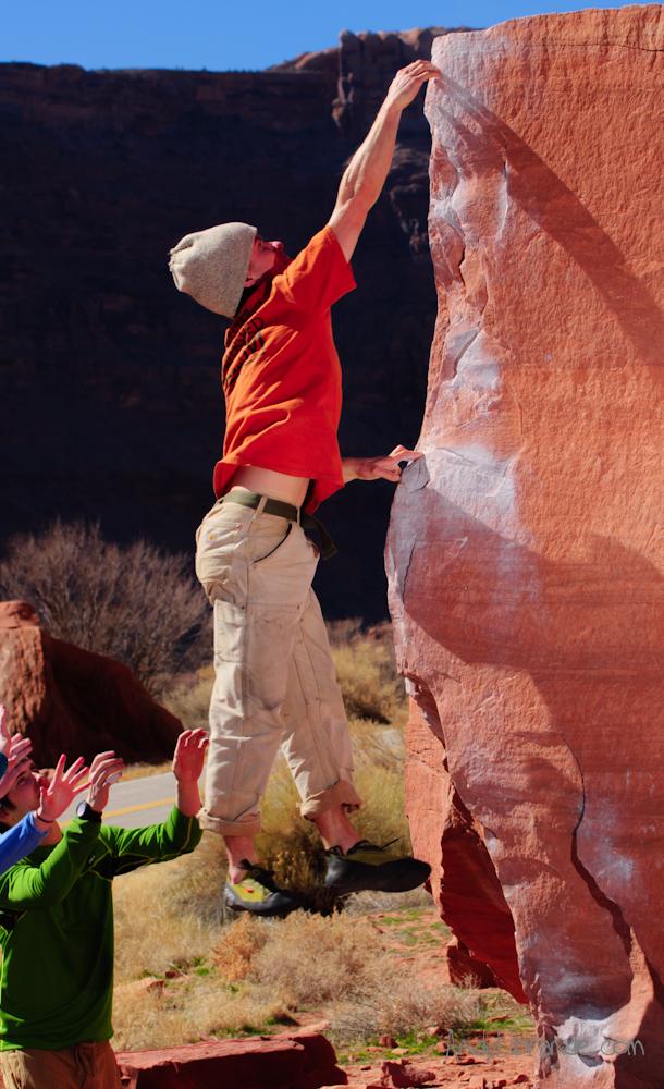 RAMBO on Flat Top boulder Dyno