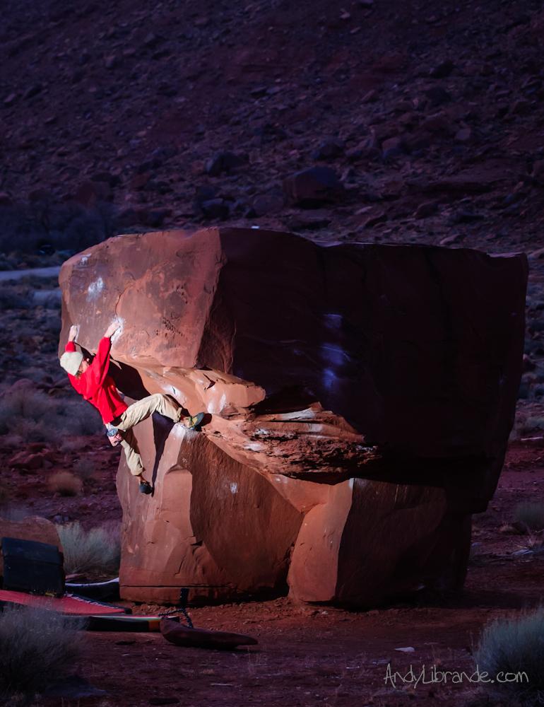 Black Top Boulder Moab Utah