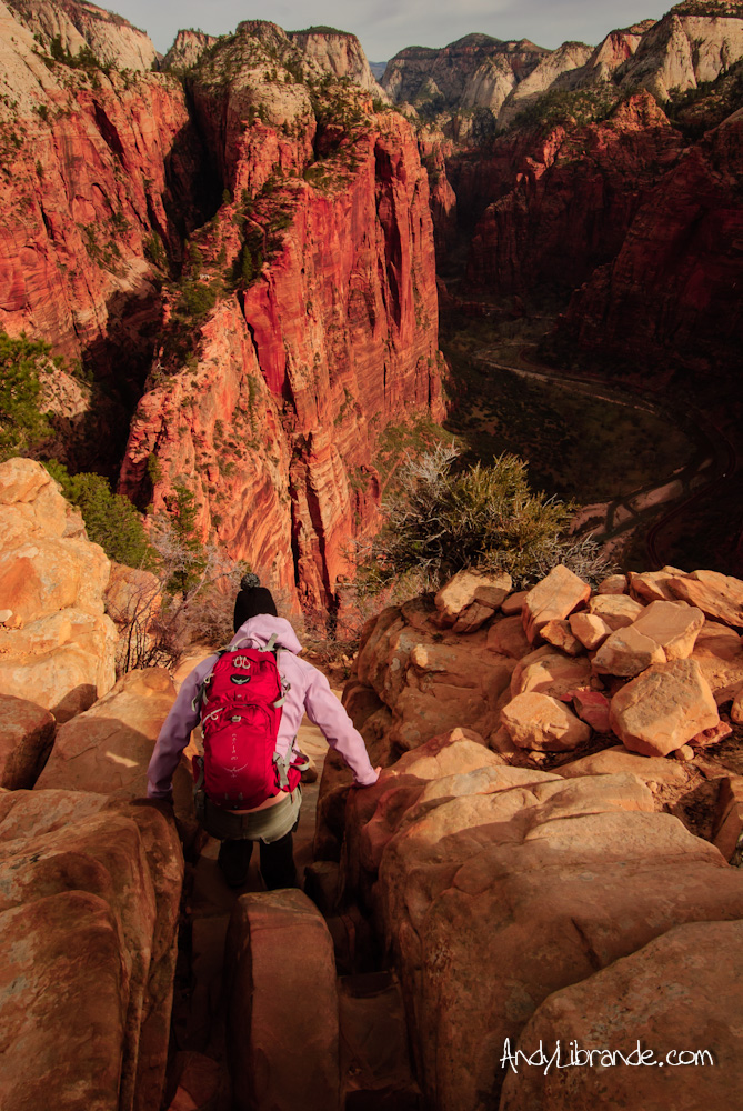 Scrambling on Angel's Landing Hike in Zion National Park