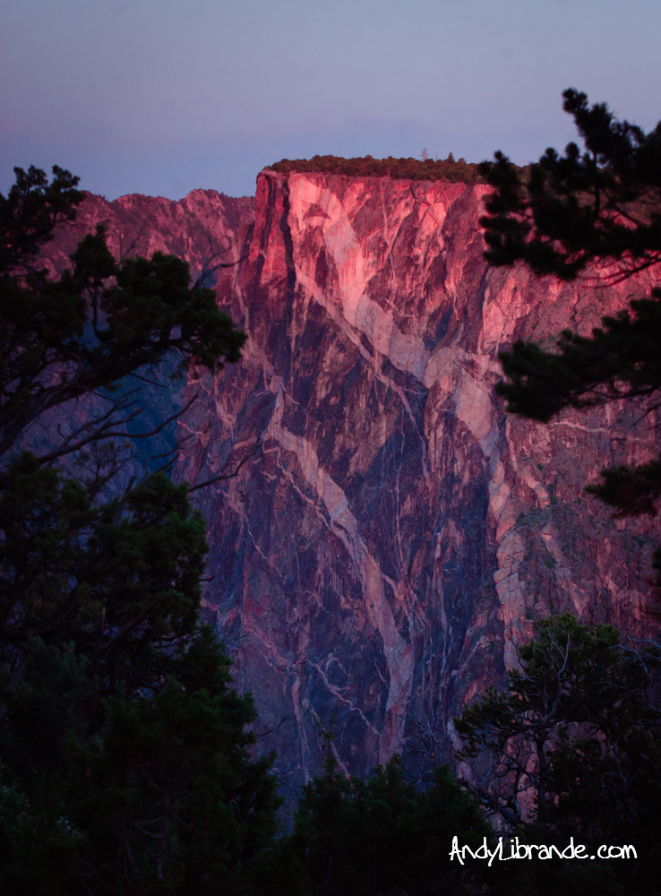 Painted Wall Black Canyon of the Gunnison at Sunrise