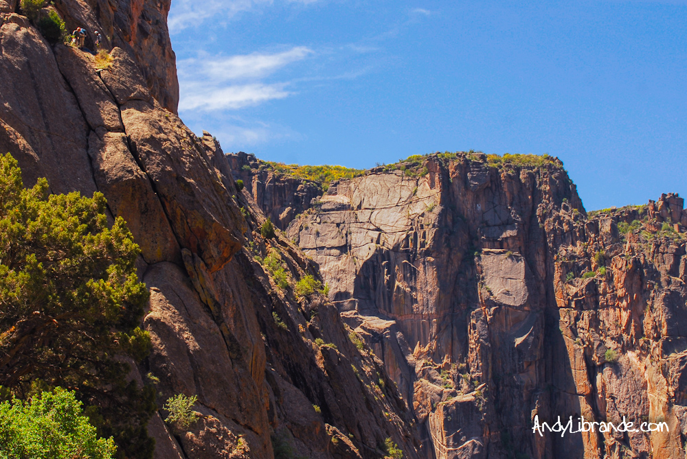 Climbers on the Casual Route Black Canyon of the Gunnison