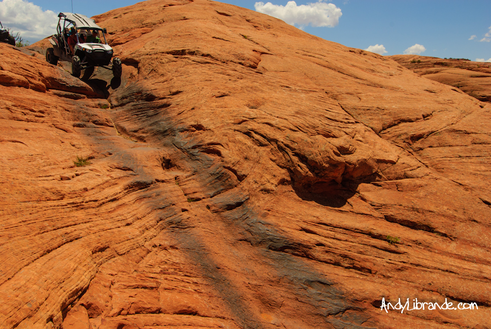 Polaris RZR on Hell's Gate Sand Flats Moab Utah