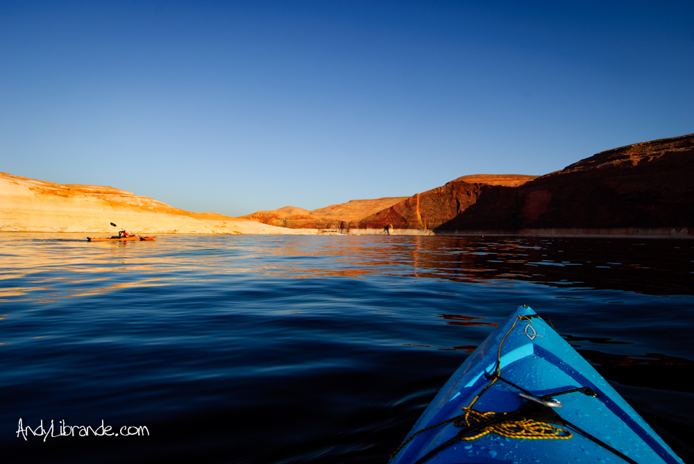 Kayaking Lake Powell in May