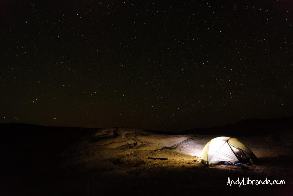 Camping in Lake Canyon at Lake Powell