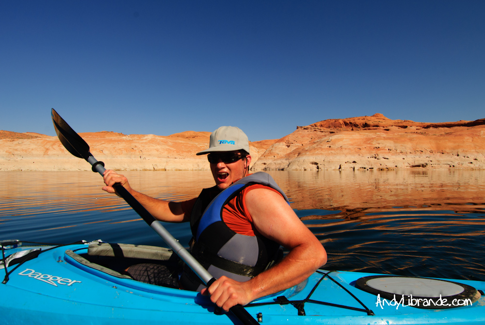 Andy in Lake Powell