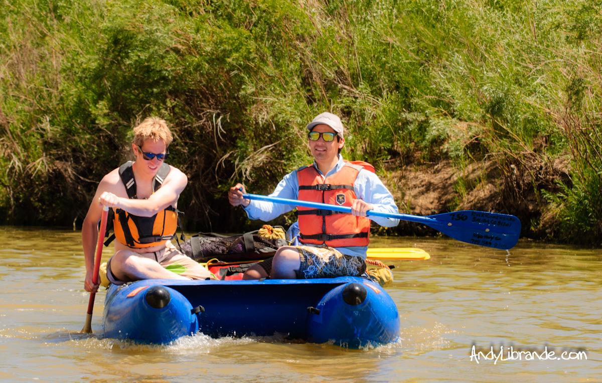 Shredder raft on Colorado River