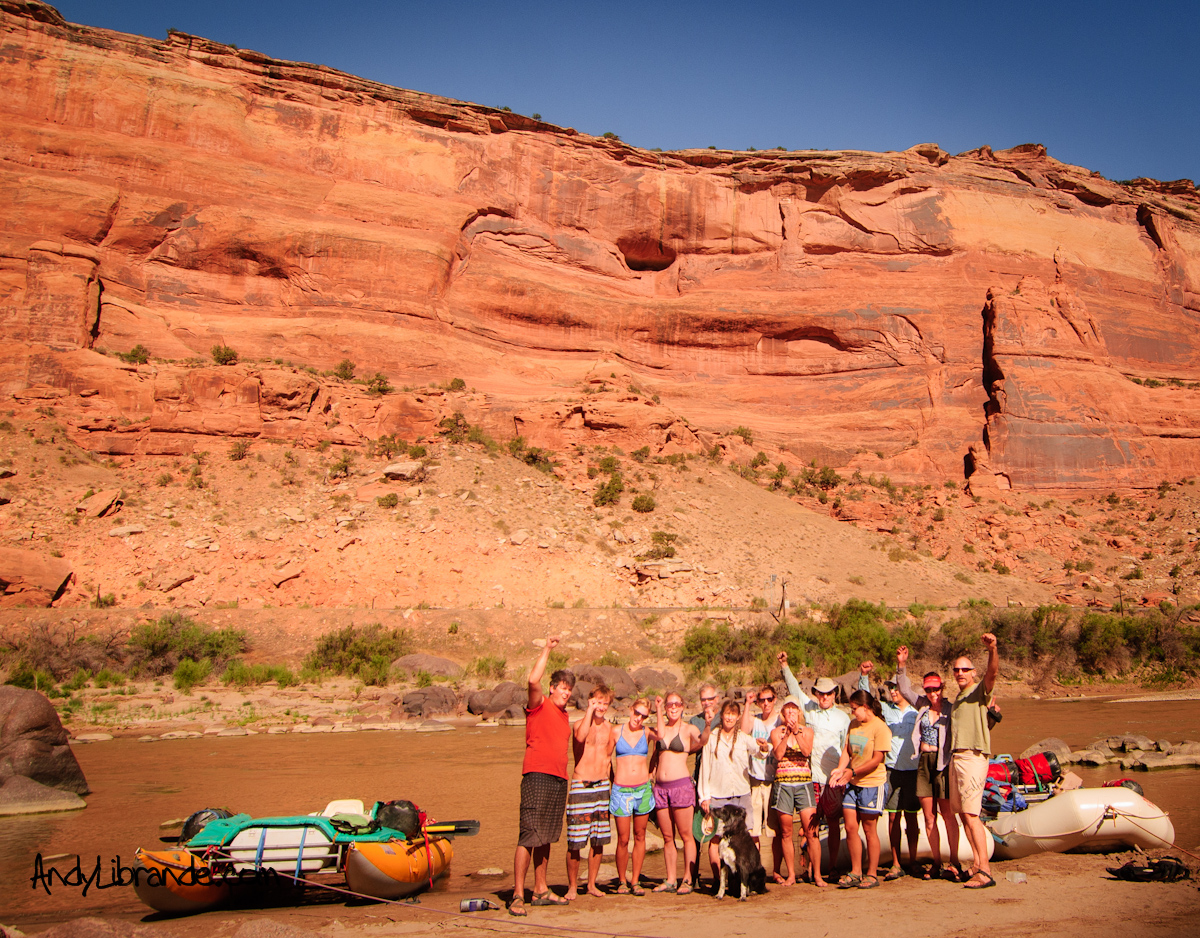 Ruby-Horsethief Black Rocks Campground group photo