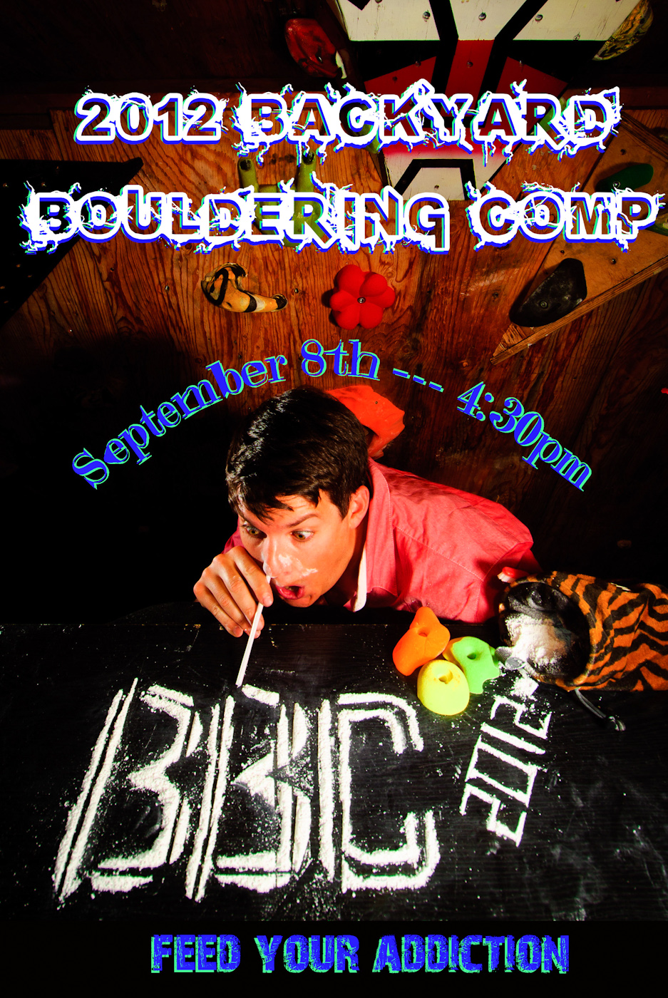 2012 Backyard Bouldering Competition Poster