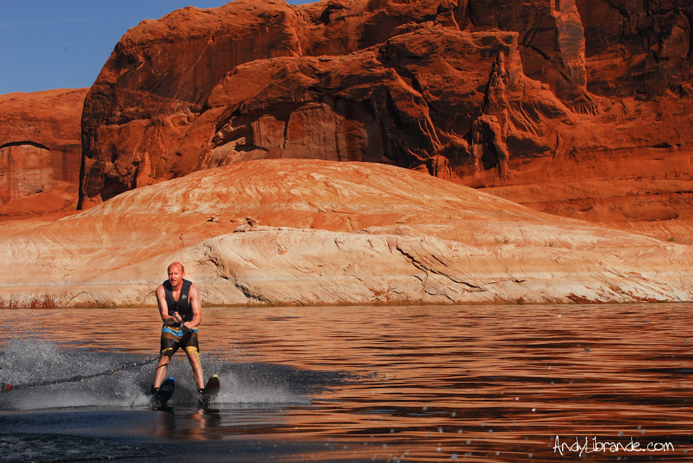 Jake Fell Waterskiing on the Escalante at Lake Powell
