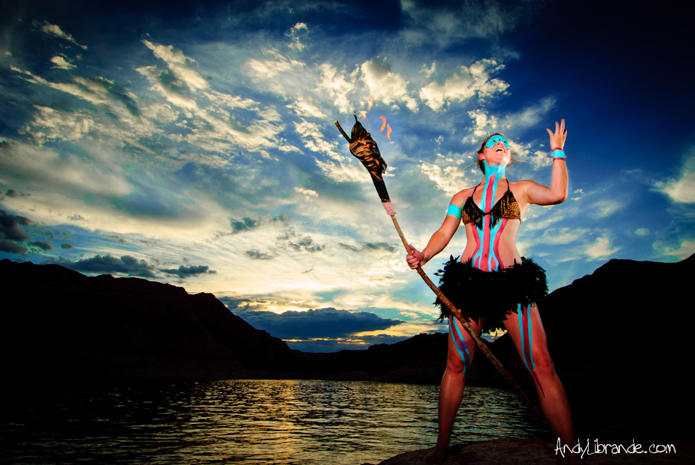 Lake Powell Ancient Mayan Photoshoot