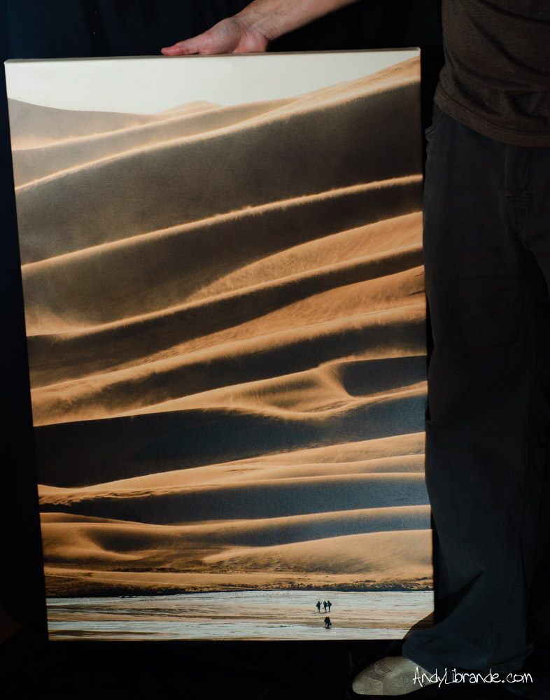 Great Sand Dunes Canvas Print For Sale