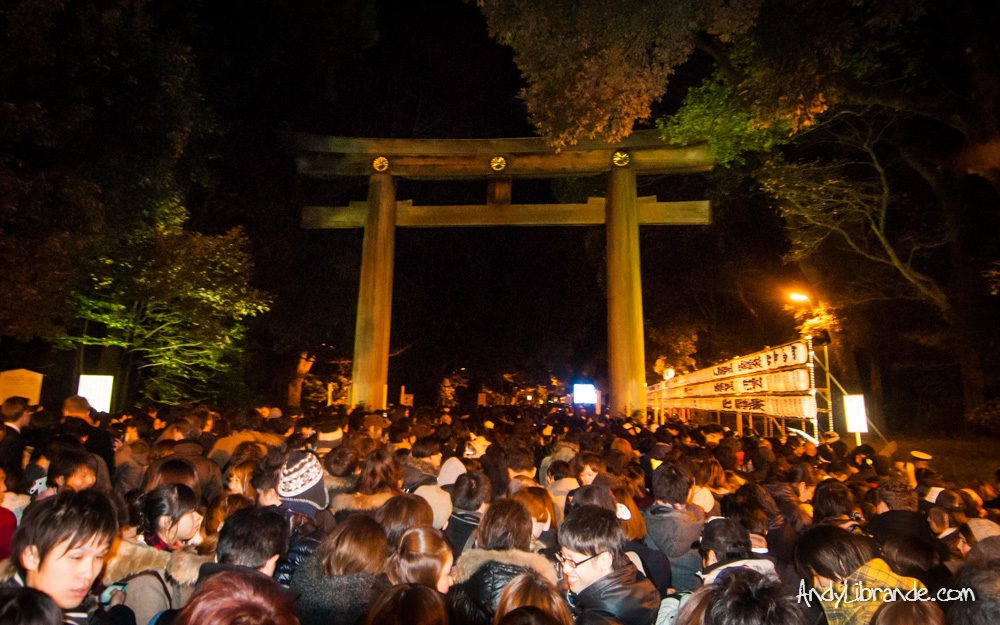 Meiji Shrine on New Years 2013