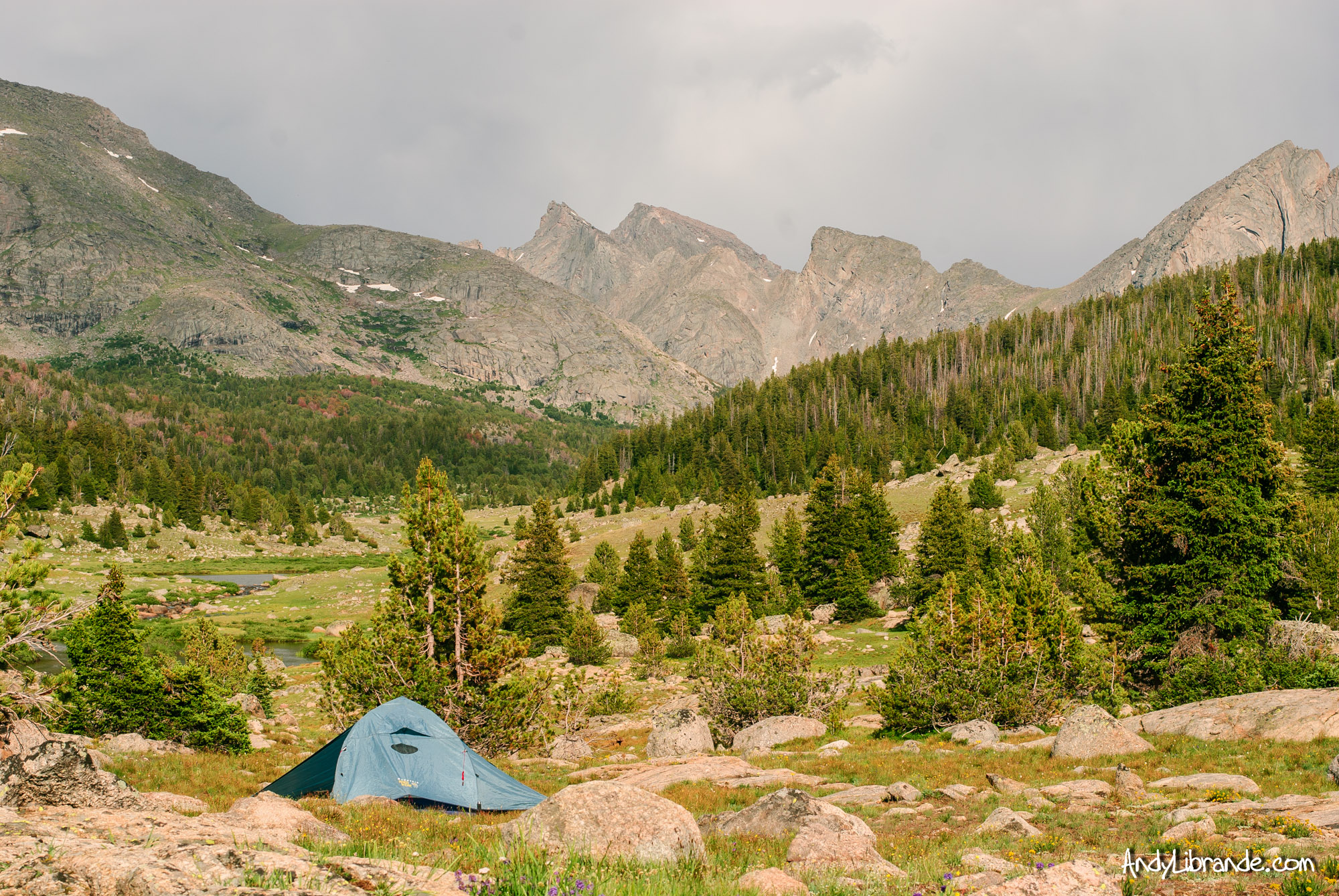 Campsite in the Wind River Range