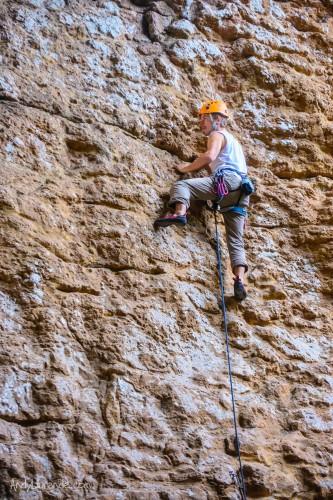 Climbing at Paredes de Copoya