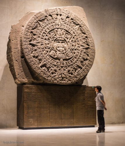 Aztec Calendar Stone in the National Museum of Anthropology