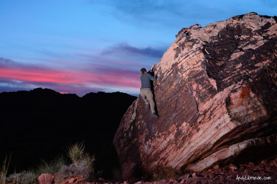 Sunset at the Kraft Boulders