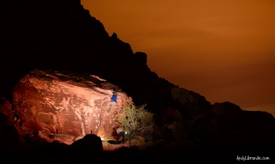 Kraft Boulders at Nighttime