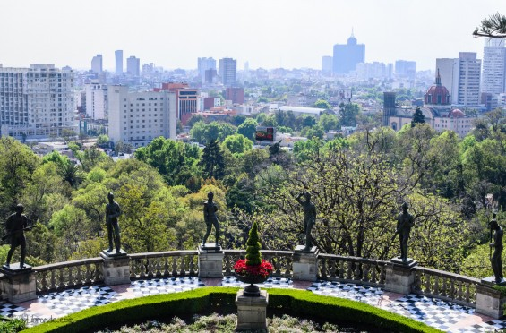 Chapultepec Castle overlooking the city