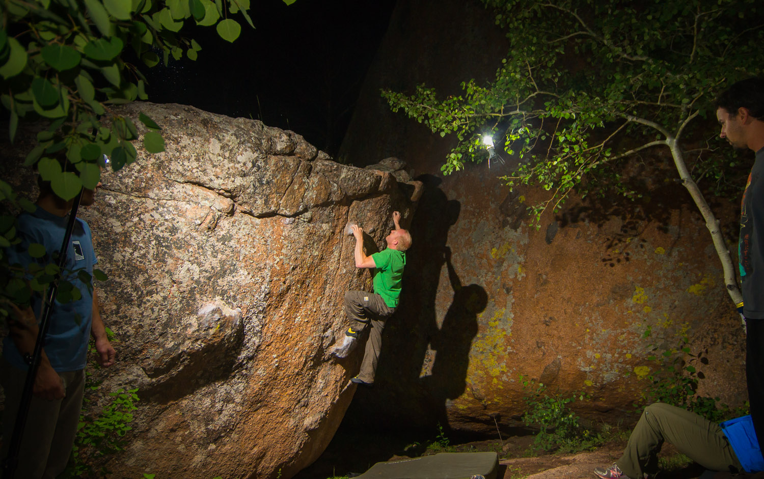 Vedauwoo bouldering at Night