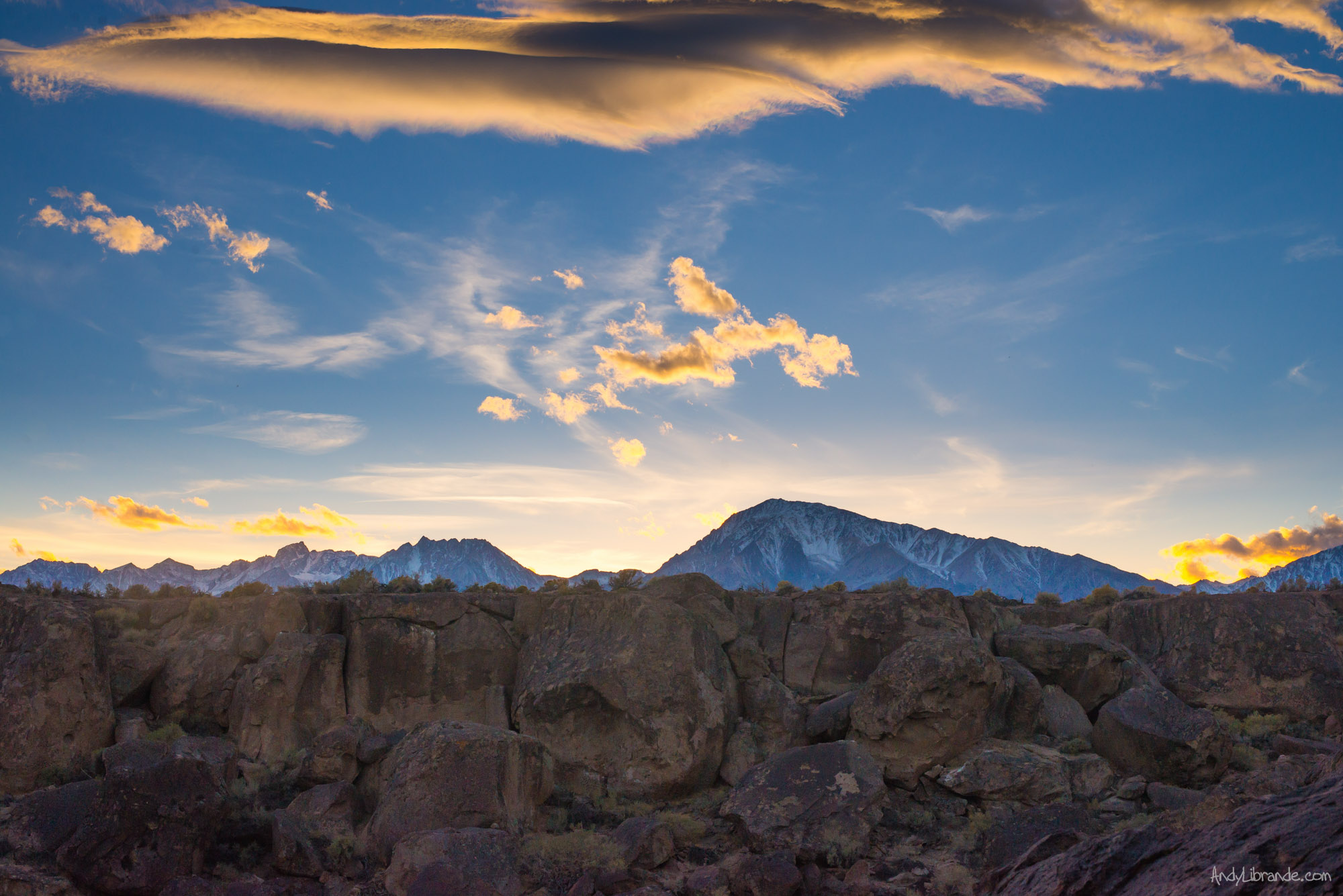 Sunset views from Happy Boulders