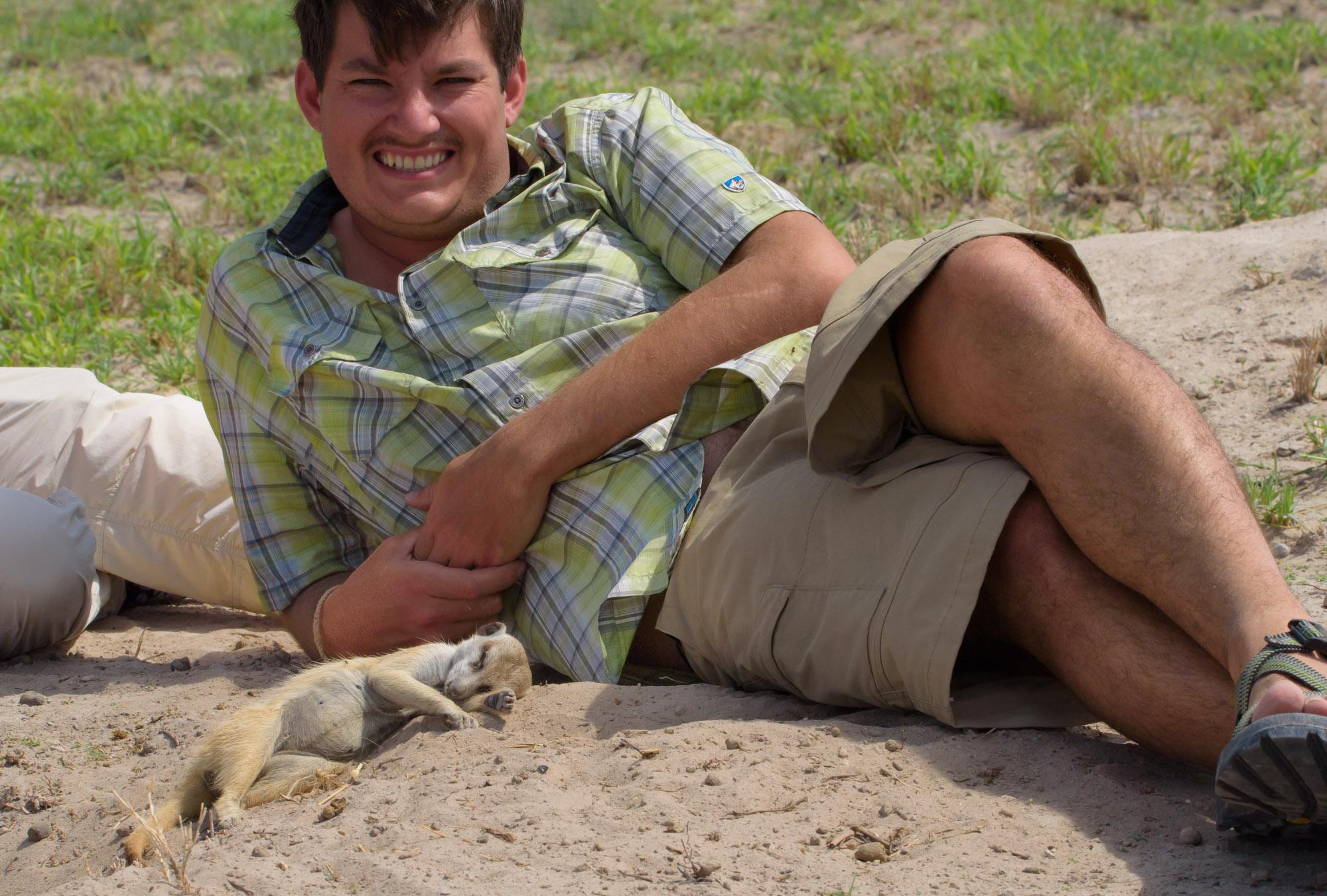 Meerkats in Camp Kalahari Jacks Camp Botswana